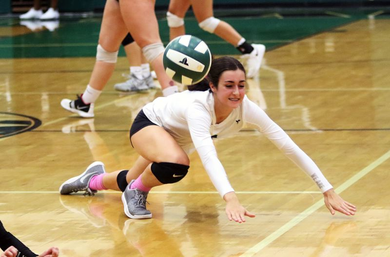 PMG FILE PHOTO: DAN BROOD - Tigard High School junior setter Kathleen Peery is starting her third season on the Tiger varsity volleyball roster.