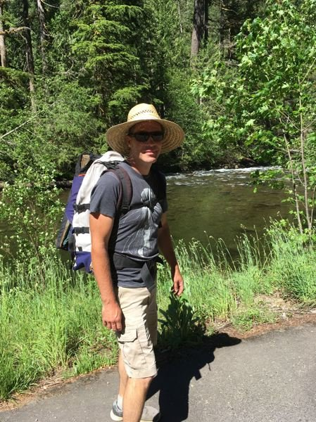 COURTESY PHOTO: ADAM KOHL - When hes not working, Kohl likes to hike, here by the Salmon River.