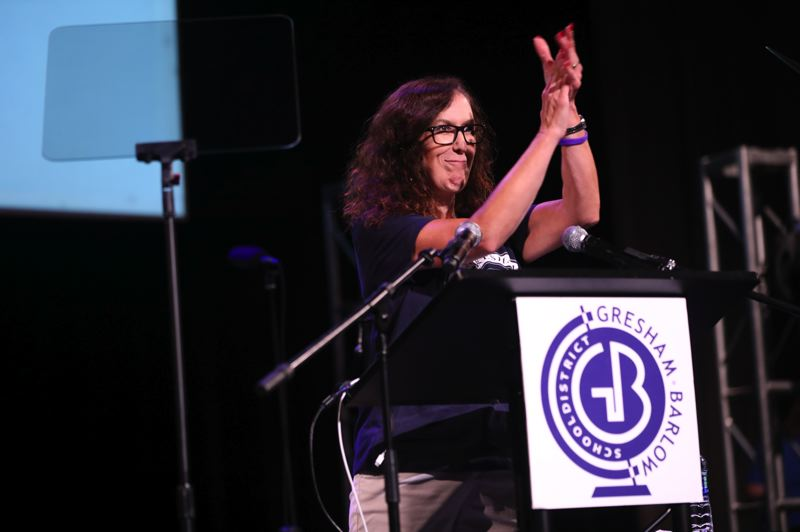 PMG PHOTO: TERESA CARSON - Kimberly Miles, principal of East Gresham Elementary School, was named the Gresham-Barlow School Districts instructional leader of the year.