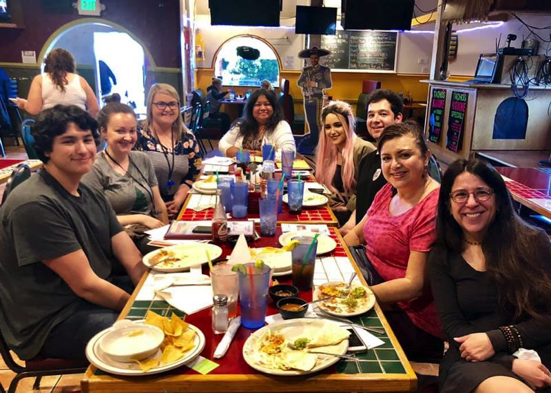 COURTESY PHOTO - Members of the Hispanic Interagency Networking Team and guests are pictured at a recent Hangout networking event which meets every other month at Tachos in Oregon City. The next event is at 4 p.m. on Oct. 17.