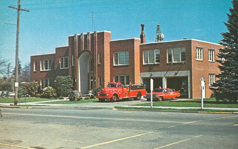 PHOTO COURTESY: CITY OF MILWAUKIE - Milwaukie City Hall is seen in the 1950s when it still housed a fire department.