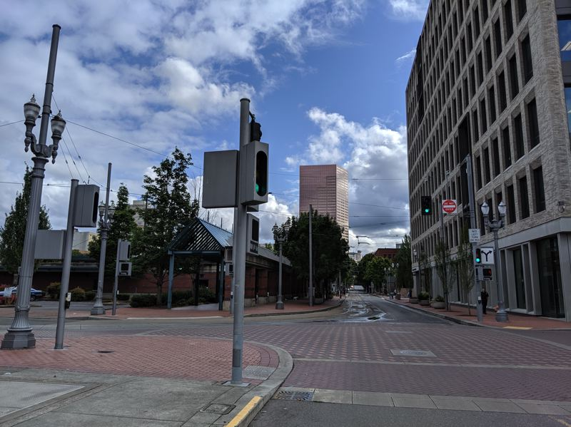 PAMPLIN MEDIA GROUP: JOSEPH GALLIVAN  - Portland's Greyhound station occupies a block in Old Town but it comes with street campers and panhandlers.