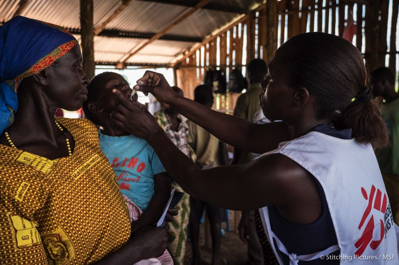 COURTESY PHOTO: STITCHING PICTURES/MSF - Aid workers with Doctors Without Borders treat people all over the world, including in Uganda, where Portlander Jordan Wiley has most recently served.