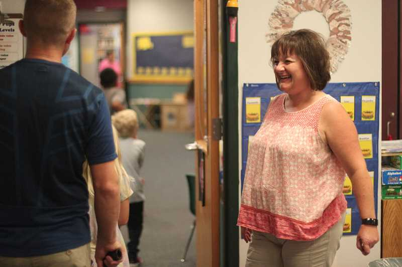 PMG PHOTO: PHIL HAWKINS - North Marion Kindergarten teacher Tami Esmay (above) and colleague Cindy Jackson spend the summer reaching out to students and parents preparing to enter the school system.