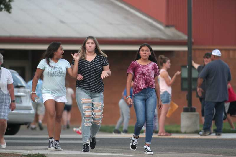 PMG PHOTO: PHIL HAWKINS - Families came out to the NMSD campus on Aug. 28 for back-to-school night.