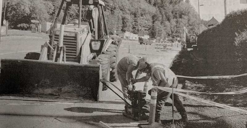 ARCHIVE PHOTO - In 2009, updates were underway on a stretch of Highway 224 near downtown Estacada.