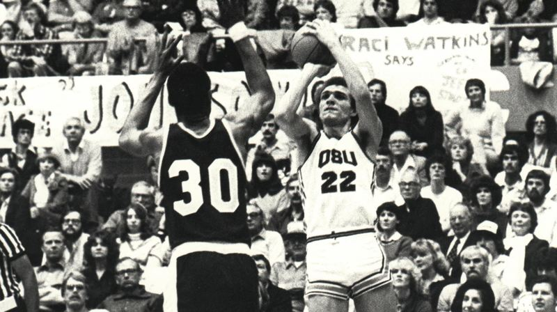 COURTESY PHOTO: OREGON STATE UNIVERSITY - At Oregon State, guard Ray Blume from Parkrose High lit it up enough to earn impending induction into the Oregon Sports Hall of Fame.