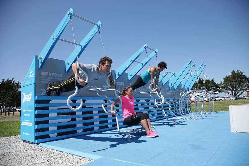 Free outdoor fitness court open at Tanner Creek Park