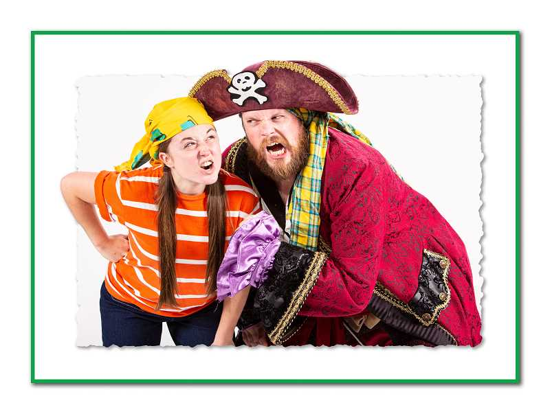 COURTESY PHOTOS  - Heath Koerschgen as Captain Braid Beard and Riley Holmes as Jeremy Jacob in NWCTs production of How I Became a Pirate, opening Sept. 21 and running through Oct. 13.