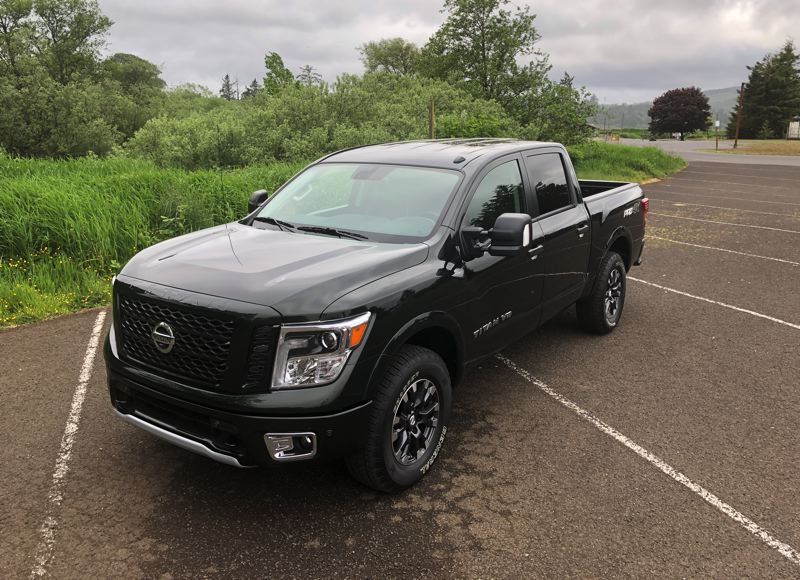 PMG PHOTO: JEFF ZURSCHMEIDE - If you are in the market for a full-size truck, do not overlook the 2019 Nissan Titan, which come standard with a powerful V8 and can be configured to meet every need.