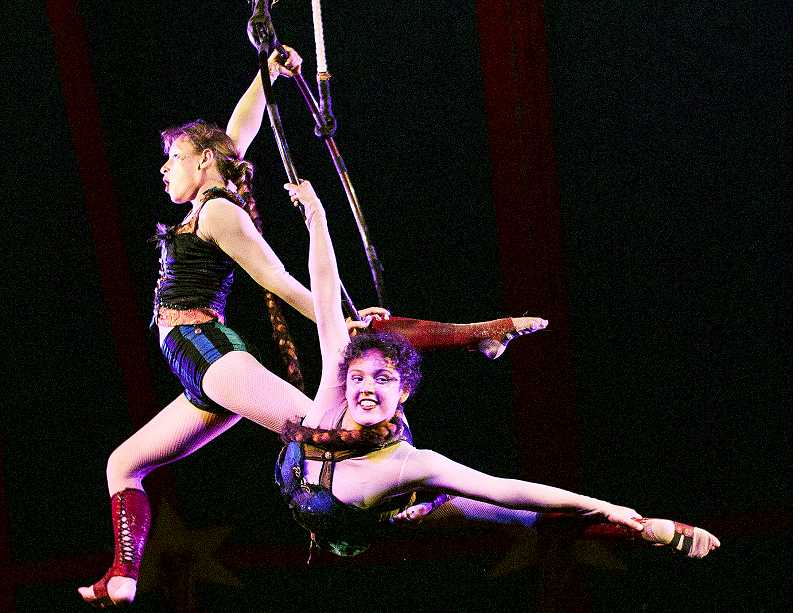 SUBMITTED PHOTO - Aerialists, acrobats, jugglers, dancers, comedians, musicians and more will be in place beginning Sept. 19 as the Flynn Creek Circus performs under the big top tent at Northside Community Church.