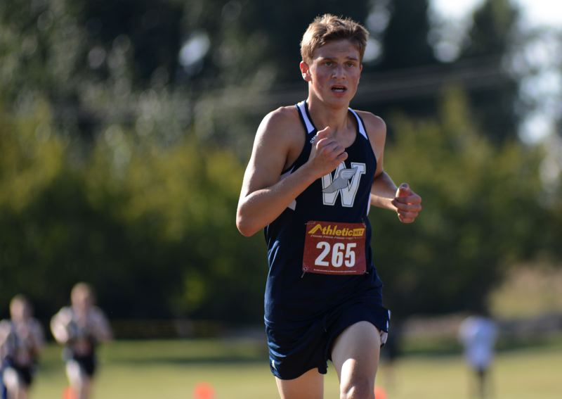 PMG PHOTO: DEREK WILEY - Wilsonville freshman Mason Weisgerber finished fifth at the NWOC Preview meet Wednesday at Blue Lake Park in Gresham.