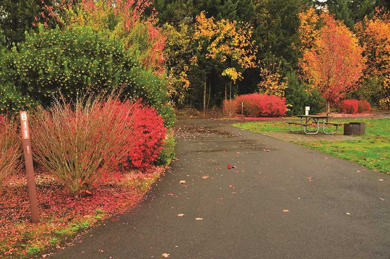 COURTESY PHOTO: OREGON STATE PARKS - Champoeg State Heritage Area near St. Paul and Donald is one of 11 Oregon State Parks that will be offering discounted RV camp sites through the month of November.