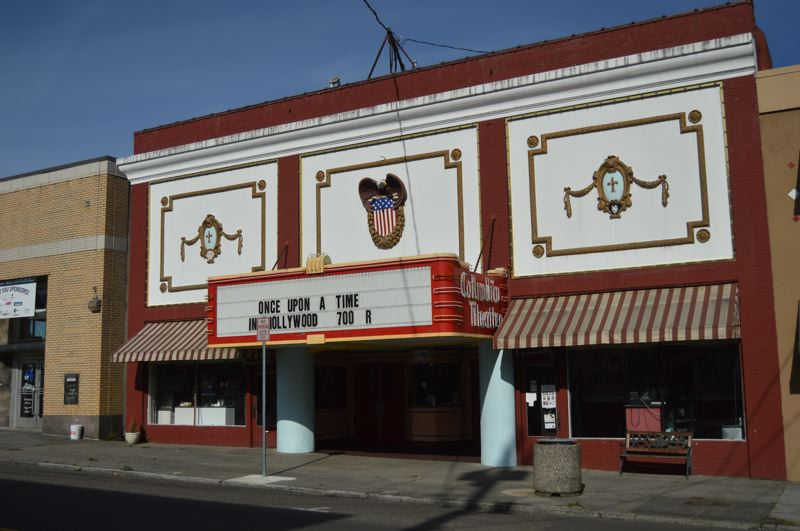 PMG PHOTO: NICOLE THILL-PACHECO - The Columbia Theater in St. Helens is expected to undergo a number of repairs and renovations thanks to grant funding. The theater was recently selected for some federal grant funds that will help pay for a replacement marquee.