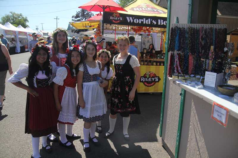 PMG PHOTO: JUSTIN MUCH - Dressing for the fest is one fun aspect of Mount Angels Oktoberfest.