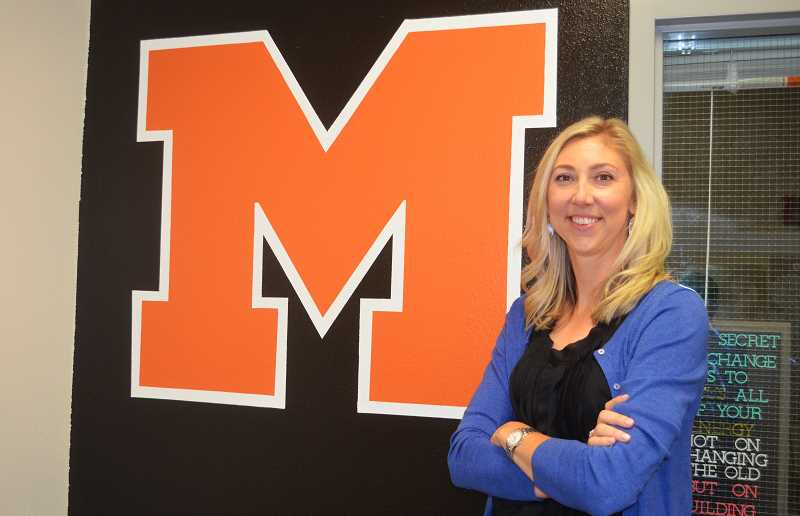 PMG FILE PHOTO: DEREK WILEY - New Athletic Director Kristen Rott is inviting community members to a series of meetings for the purpose of developing a strategic plan for the athletics department. The first takes place Nov. 4 from 6-8 p.m. at the Molalla High School commons.