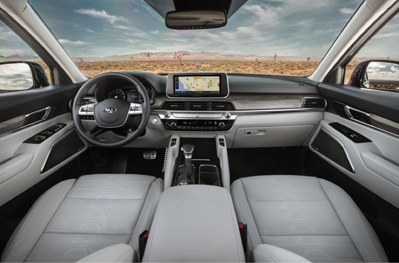 KIA MOTORS AMERICA - The interior of the 2020 Kia Telluride can be outfitted with just about every comfort, convenience, infotainment, luxury and safety feature available today.