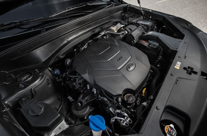 KIA MOTORS NORTH AMERICA - The 2020 Kia Telluride is powered by a 3.8-liter V8 that excels in the Sport mode.