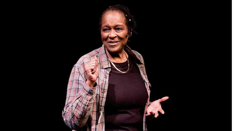 COURTESY PHOTO: ALEX HASLETT - Shelley B. Shelley performs at the Fertile Ground Festival in Portland in Here on This Bridge: The -Ism Project, Theatre Diasporas newest touring production in Oregon.