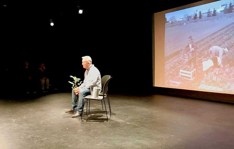 COURTESY PHOTO: DMAE ROBERTS - Larry Toda performed at Hood Rivers Columbia Art Center for Here on This Bridge: The -Ism Project this year on Theatre Diasporas tour of small and rural towns in Oregon.