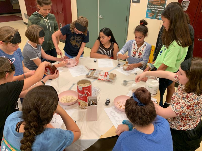 COURTESY PHOTO - During the Girls Night Out event at Wood, there were several activity stations students participated in.