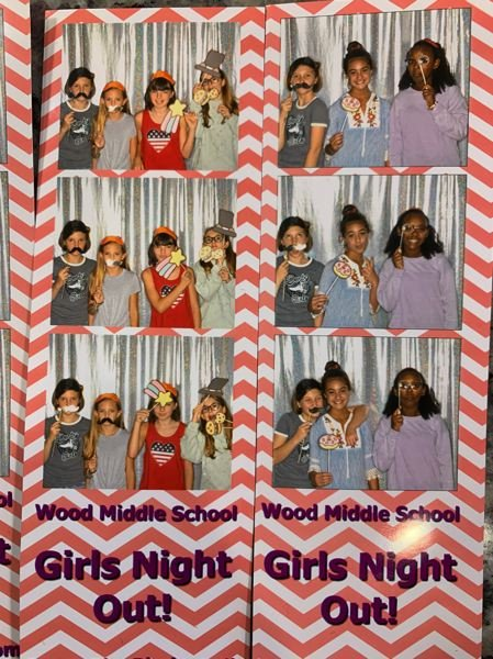 COURTESY PHOTO - One of the activity stations during Girls Night Out was a photobooth.