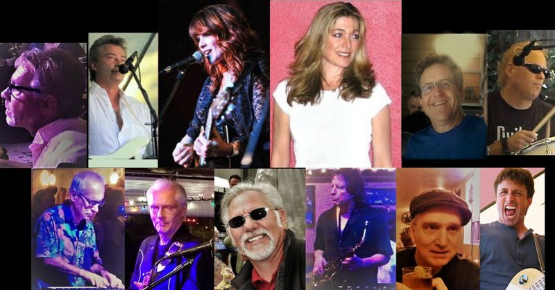PHOTO COLLAGE FROM ROBERT STOLL - Members of the Fabulous Milwaukie Almost All-Starts include headliners Kris Deelane, upper center-left, and Lorri Calhoun, upper-center right. Robert Stoll is upper left in white shirt.