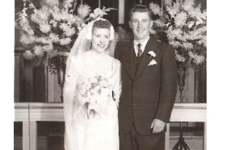 COURTESY PHOTO - Eugene and Charlotte Packard married Sept. 17, 1949, at Saint Michael Catholic Church in Sandy.