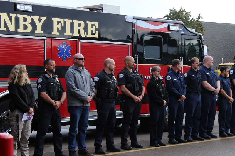 Canby Fire Salutes 9-11 with Ceremony