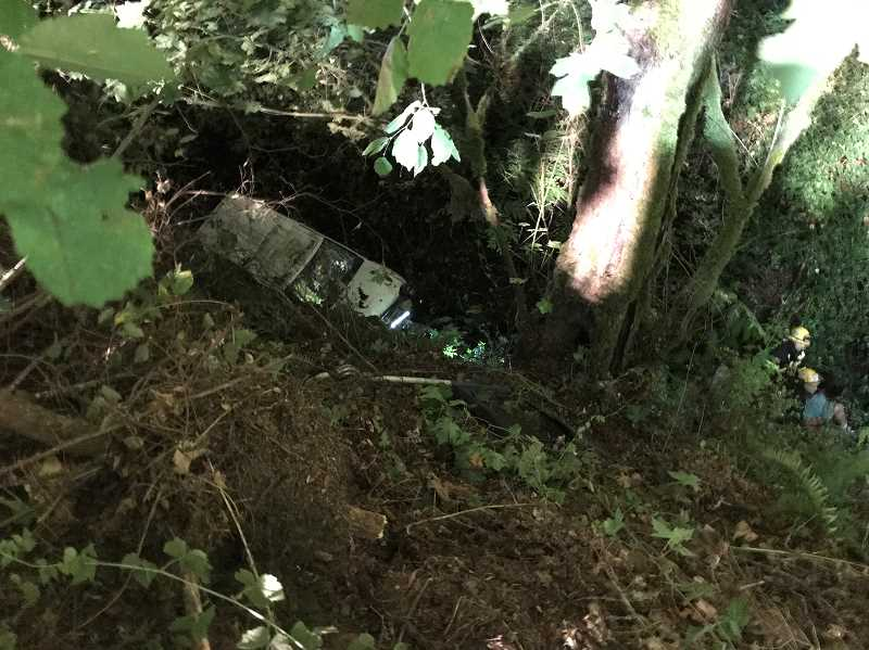 COURTESY PHOTO - Around 11:12 p.m. Monday, Sept. 16, the Clackamas County Sheriff's Office responded to an incomplete 911 call from Kristin Ann Madden, who told police her vehicle was in a ravine.