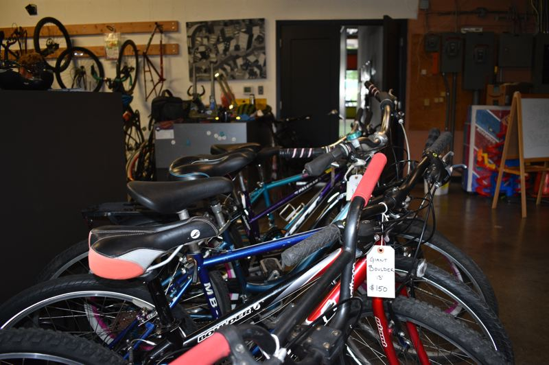 PMG PHOTO: TERESA CARSON - The Gresham p:ear bike shop has a small inventory of reconditioned bikes for sale at bargain prices.