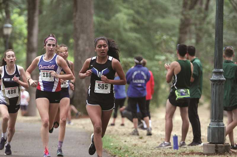 PMG FILE PHOTO: PHIL HAWKINS - After making her cross country debut a week ago, Woodburn sophomore Myranda Marquez set a new personal-best with an 11th-place time of 20:30.1 at the Northwest Classic on Saturday.
