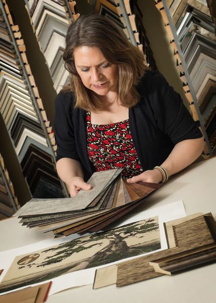 PMG FILE PHOTO - Donna Erwin, owner of Columbia River Gallery, is an award-winning framing artist who was named Artist of the Year for the upcoming Fall Festival of the Arts.