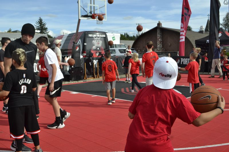 PMG PHOTO: BRITTANY ALLEN - Several shooting clinics and opportunities to play were provided by the Rip City team on Sept. 13.