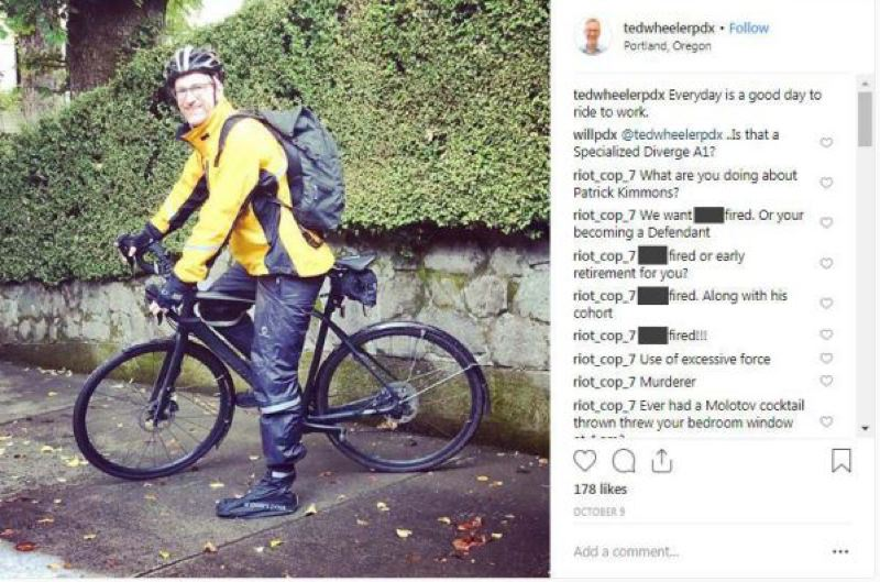 COURTESY PHOTO - Threatening comments posted on Portland Mayor Ted Wheeler's Instagram page led to a 14-month prison sentence for a Portland man.