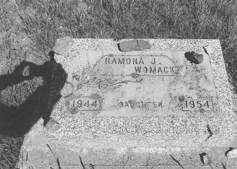PHOTO COURTESY OF BOWMAN MUSEUM - Ramona Womack fell to her death at Opal Springs in 1954, 25 years after another young girl, Rose Larkin, died the in the same manner, falling into the canyon after playing on its edge.