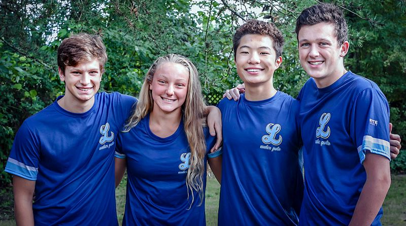COURTESY PHOTO - Lakeridge water polo players (from left) Mitchell Parker, Molly Glad, Anthony Wang and Thomas Gooding were all named Academic All-Americans by USA Water Polo on Sept. 6.