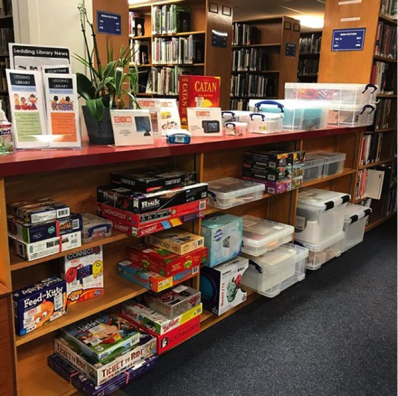COURTESY PHOTO - Starting Sept. 16, Ledding Library's soft opening of its Library of Things allowed patrons to come in and check out one item per card for seven days. Starting Sept. 23, people can browse the catalog online and place holds (must pick up and return at Milwaukie).