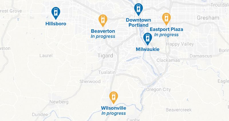 COURTESY PGE - A map of the PGE Electric Avenue project that are completed or underway.