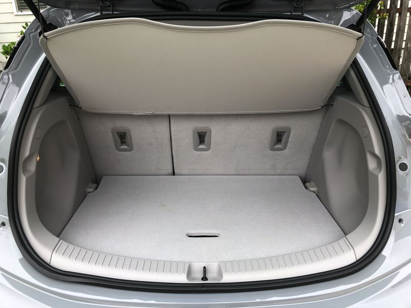 PMG PHOTO: JEFF ZURSCHMEIDE - Cargo space is very good for an EV, without the battery pack restricting it.