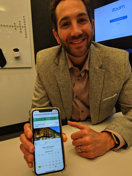 PAMPLIN MEDIA GROUP: JOSEPH GALLIVAN  - Donny Dvorin, head of sales at Brave, shows off the brave browser which promises to block unauthorized ads and send revenue in the form of crypto tokens to participating advertisers. It could bring Google to its knees. Or not. Brave is one of six startups in the Oregon Enterprise Blockchain Venture Studio hosted by R/GA Ventures in the Pearl District.