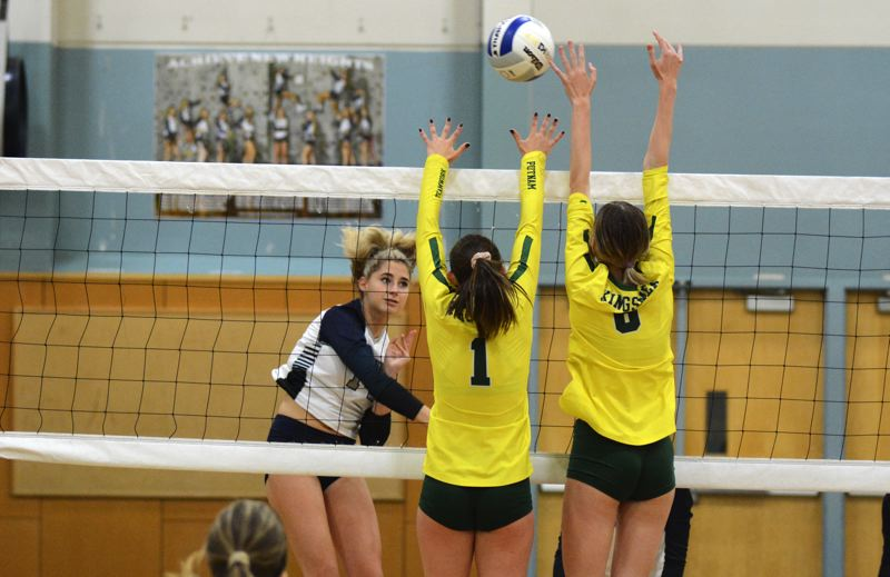 PMG PHOTO: DEREK WILEY - Wilsonville junior Clarissa Klein had nine kills Tuesday against Putnam.