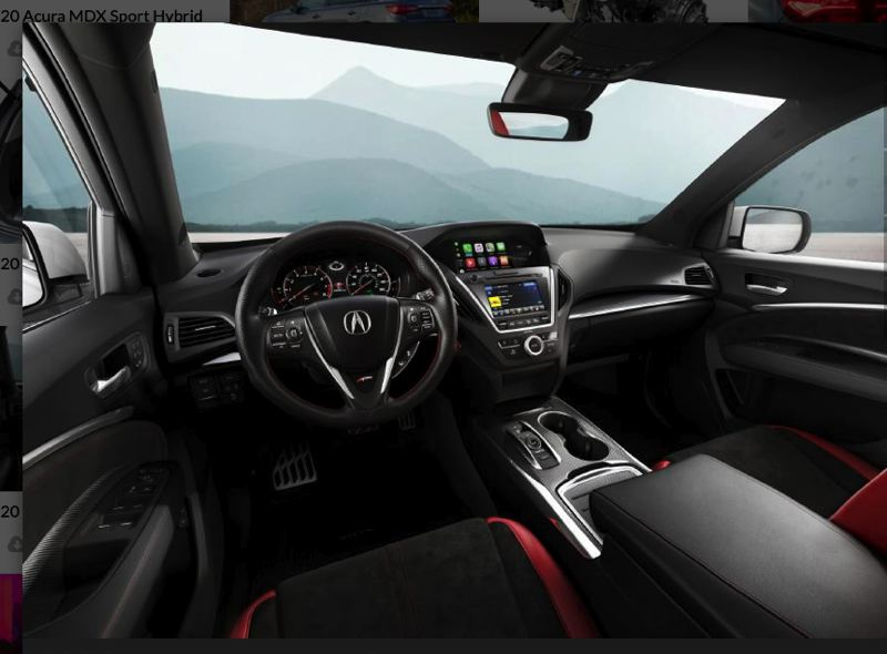 HONDA NORTH AMERICA - The interior of the 2020 Acura MDX AWD A-Spec includes special trim and practically every advanced automotive technology.