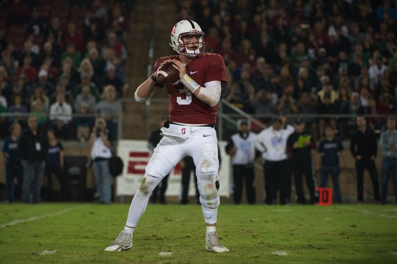 COURTESY: STANFORD ATHLETICS - Quarterback K.J. Costello suffered an early-game injury last week in a loss to Oregon, and things went downhill from there for the Stanford offense.
