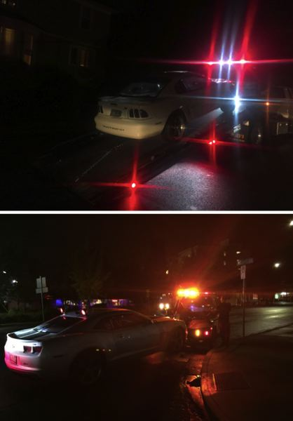 PPB PHOTOS - Portland police say they towed two cars for being involved in street racing.