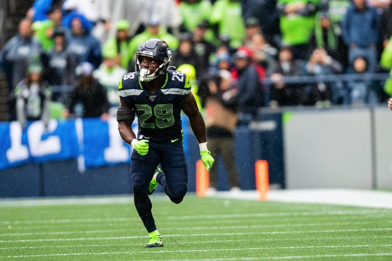 COURTESY PHOTO: MICHAEL WORKMAN - Ugo Amadi has been playing mostly special teams this season for Seattle after being drafted in the fourth round by the Seahawks out of Oregon.