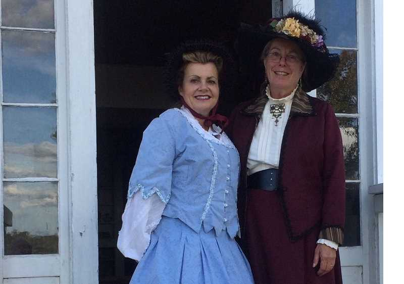 COURTESY PHOTO: MARY JO MORELLI - Maureen Andronis, left, and Linda Stiles-Taylor, are among the actors who will participate in the living history tour at the A.T. Smith House on Saturday, Sept. 28, and Sunday, Sept. 29.
