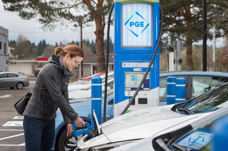 COURTESY PGE - PGE is building more Electric Avenue charging stations in the region.
