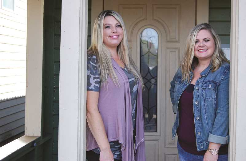 RAMONA MCCALLISTER - Shonda Russell, left, is the owner of Wild Soul Boutique. She rents a space in the building where Jamie O'Neal, right, started her salon, Rustic Roots. The two hold the same hours and business phone number for convenience, in spite of being two separate businesses.
