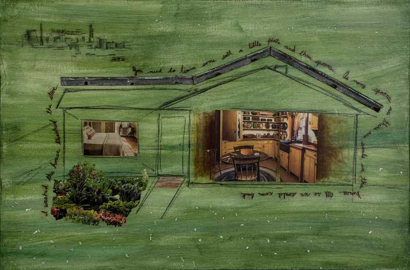 COURTESY PHOTO - This is Samantha Marroquin's piece depicting a deserted home and the Chernobyl nuclear power plant.
